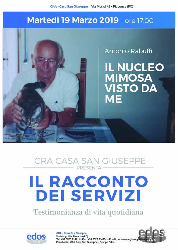 """PRESENTAZIONE DEL LIBRO """"IL NUCLEO MIMOSA VISTO DA ME"""" di Antonio Rabuffi"""