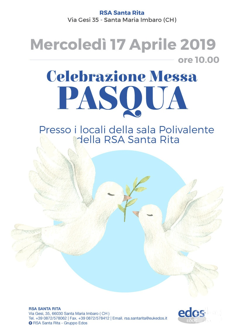 Celebrazione Messa di Pasqua alla Santa Rita